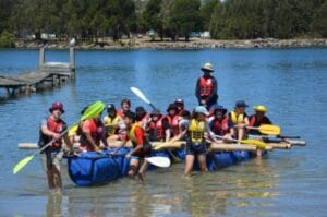 Raft Building - Fun & Unique Camp - Camp Koinonia in Northern NSW