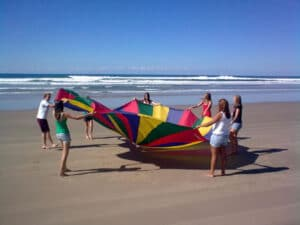 Beach Initiative Games - Fun & Unique Camp - Camp Koinonia in Northern NSW