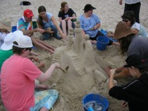 Sand Sculptures - Fun & Unique Camp - Camp Koinonia in Northern NSW